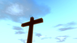 Cross Crucifix With Time Lapse Clouds Loop Christi stock footage