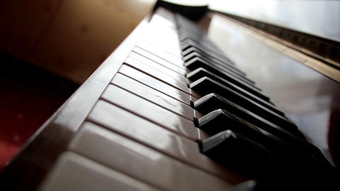 Closer view of the piano keys Footage