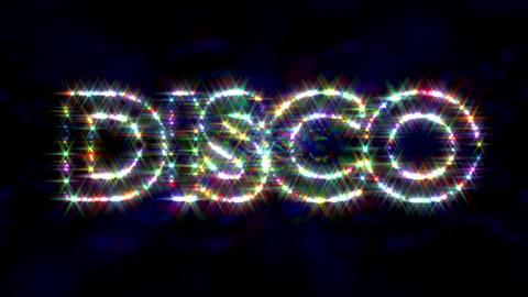 Disco logo text sparkling glitter multicolor Animation