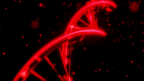 DNA spinning RNA double helix slow tracking shot c Animation