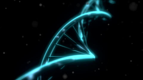 DNA RNA double helix slow tracking shot closeup de Animation