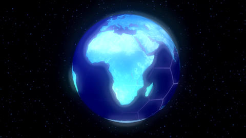 Earth Planet World High Tech Display Blue stock footage