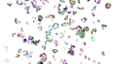 Gems diamonds gemstones ruby stones falling slow m Animation