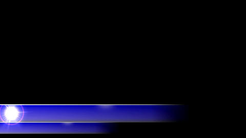 Lower 3rd news corporate dual blue flare third l3r Animation