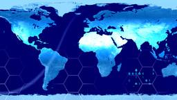 World Map High Tech Digital Satellite Data View Wa stock footage