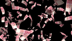Yuan Chinese Money Falling Financial Win Currency stock footage