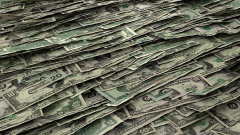 Money Piles Stacks of Dollars Financial US Currenc Animation