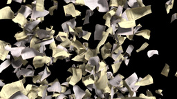 Pages falling white yellow paper book literature b Animation