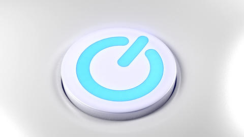 Power button switch turn on blue Animation