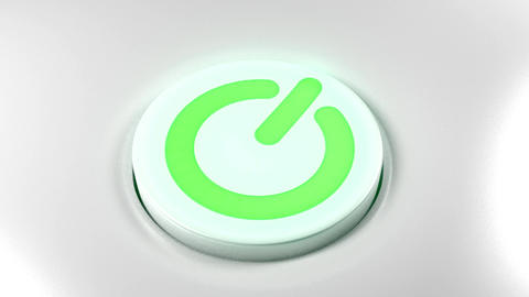 Power button switch turn on green Animation