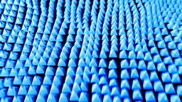 Pyramid ocean grid flow pattern abstract backgroun Animation