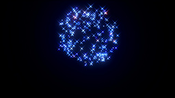 Fireworks rocket mortar blue red Animation