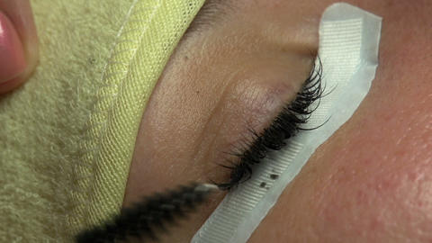 Artificial Eyelashes stock footage