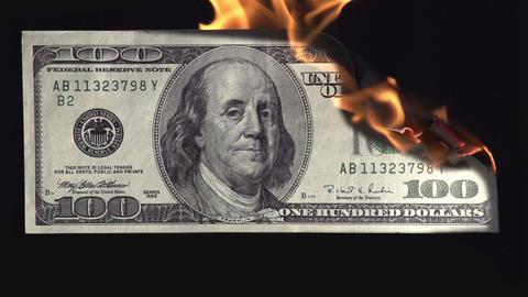 Burns Money HD Footage