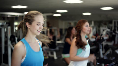 Training In A Gym stock footage