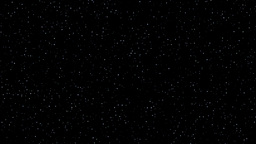 Stars twinkling night sky realistic loop Animation