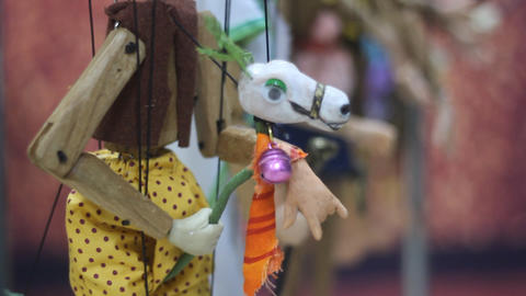 Traditional Thai String Puppet Footage
