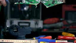 End Product Of Fixing Graphic Card In Man Hands stock footage