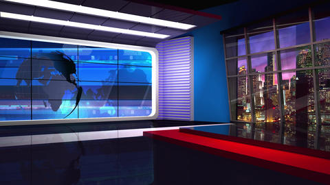 News TV Studio Set 36 - Virtual Background Loop Footage