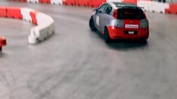 Close Up On Car Racing Indoors stock footage