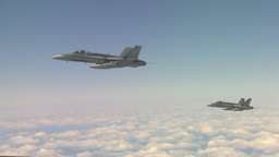 HD2009-6-3-19 aerial F18s Stock Video Footage