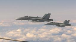HD2009-6-3-23 aerial F18s Footage