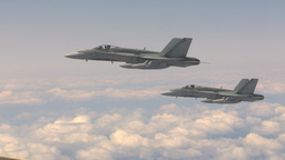 HD2009-6-3-23 aerial F18s Stock Video Footage