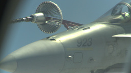 HD2009-6-3-26 aerial F18s refuel spray Stock Video Footage