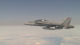 HD2009-6-3-30 aerial F18s Stock Video Footage