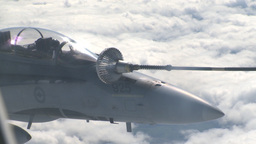 HD2009-6-3-32 aerial F18s refuel Stock Video Footage