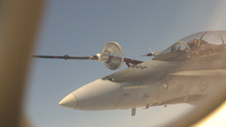 HD2009-6-4-1 Aerial F18 refuel Stock Video Footage