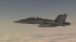 HD2009-6-4-3 Aerial F18 peel off Stock Video Footage