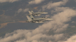 HD2009-6-4-5 Aerial F18 x2 formation Stock Video Footage