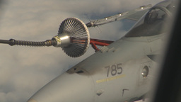 HD2009-6-4-19 Aerial F18 refuel Stock Video Footage