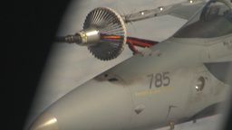 HD2009-6-4-21 Aerial F18 refuel Stock Video Footage