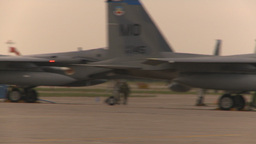 HD2009-6-6-10 apron F15 line pan Stock Video Footage