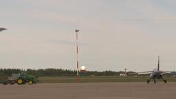 HD2009-6-6-14 F18 takeoff through frame Stock Video Footage