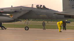 HD2009-6-6-18 apron F15 line Stock Video Footage