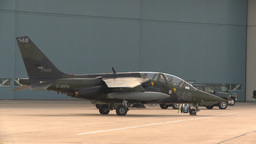 HD2009-6-6-20 apron alpha jet Stock Video Footage