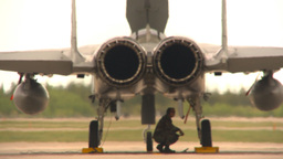 HD2009-6-6-38 F15 rear view speed brake deploys Stock Video Footage