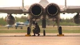 HD2009-6-6-42 F15 rear view alphajet Stock Video Footage