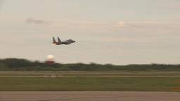 HD2009-6-6-60 F15 takeoff Stock Video Footage