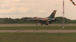 HD2009-6-6-62 F16 aggressor taxi Stock Video Footage