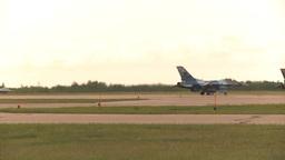 HD2009-6-6-64 F16 takeoff Stock Video Footage