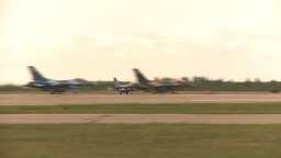 HD2009-6-6-64 F16 takeoff Stock Video Footage