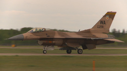 HD2009-6-6-70 F16 aggressor taxi Stock Video Footage