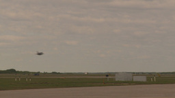 HD2009-6-6-78 F16 takeoff through frame Stock Video Footage