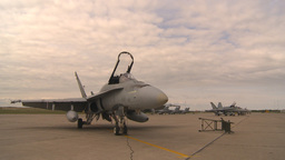 HD2009-6-7-8 apron F18s Stock Video Footage