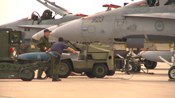 HD2009-6-7-14 bombing up F18 Stock Video Footage