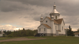 HD2009-6-7-22 Ukranian catholic church montage Stock Video Footage